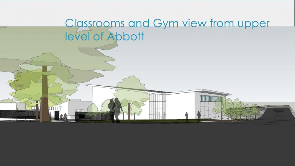 Abbott Classrooms and Gym - Upper Level View