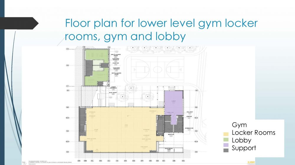 Abbott Classrooms and Gym - Lower Level View
