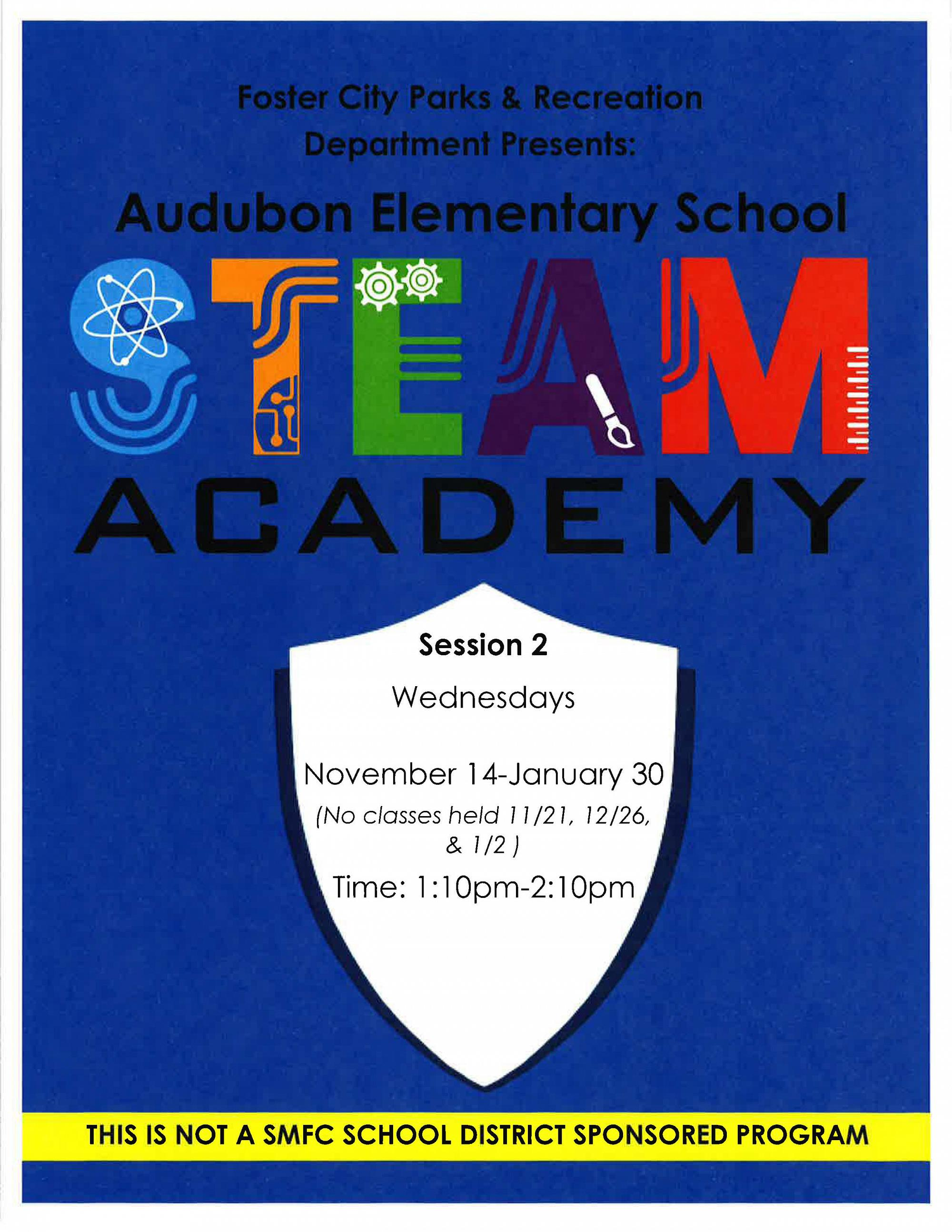 Audubon Elementary School STEAM Academy flyer
