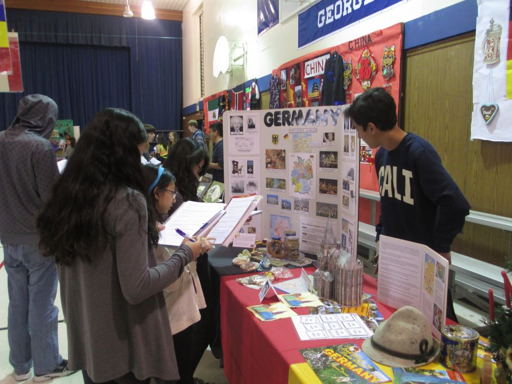 students at Borel's IB cultural fair