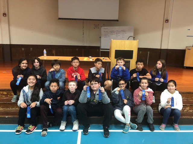 6th grade group of students who received incentive awards