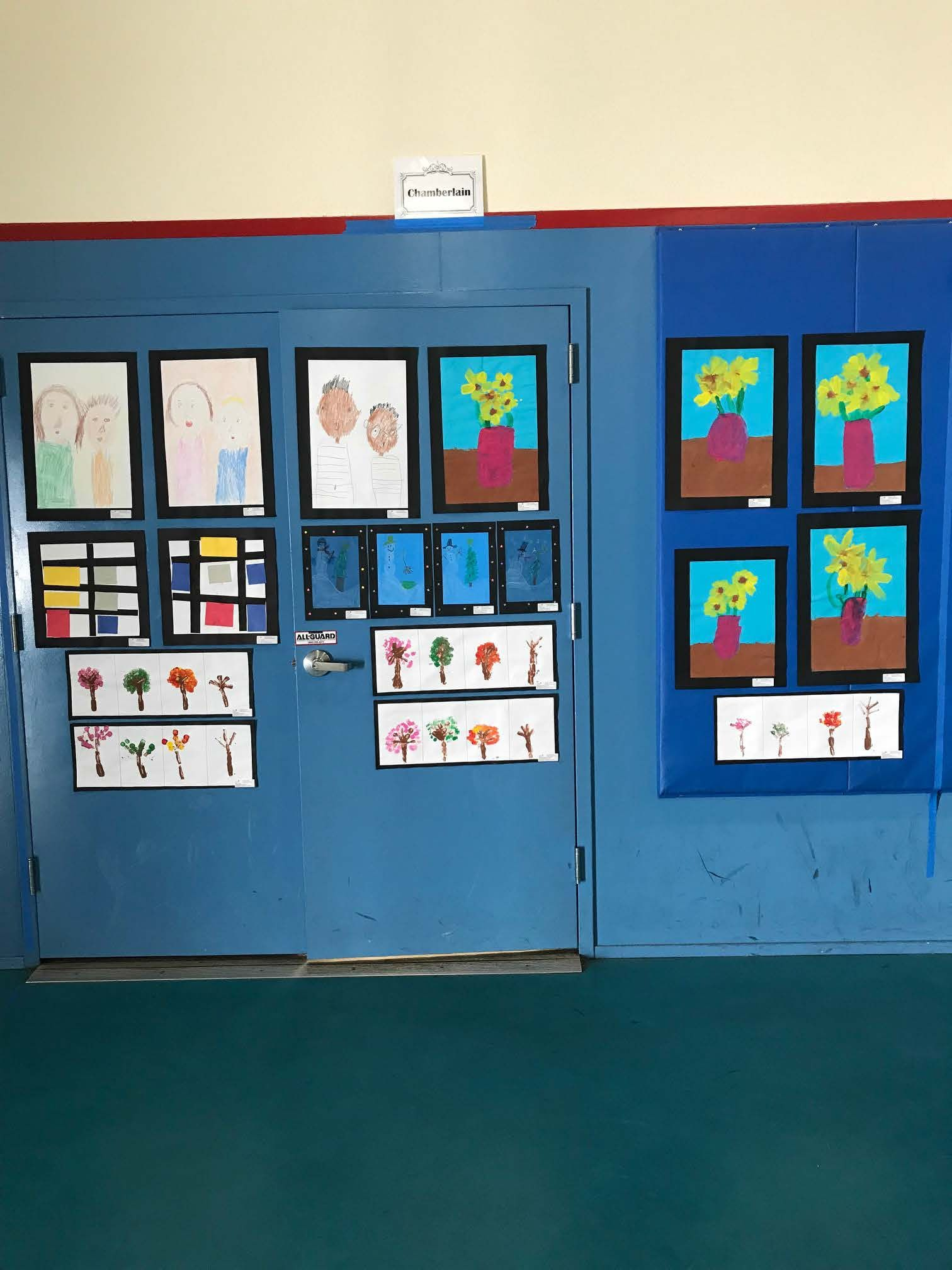 Kindergarten class paintings, mrs. Charmberlain