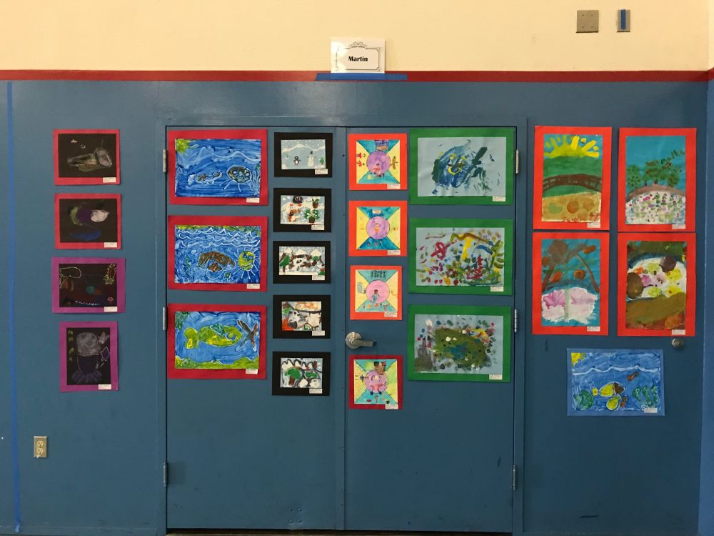 Martin First Grade art in action paintings