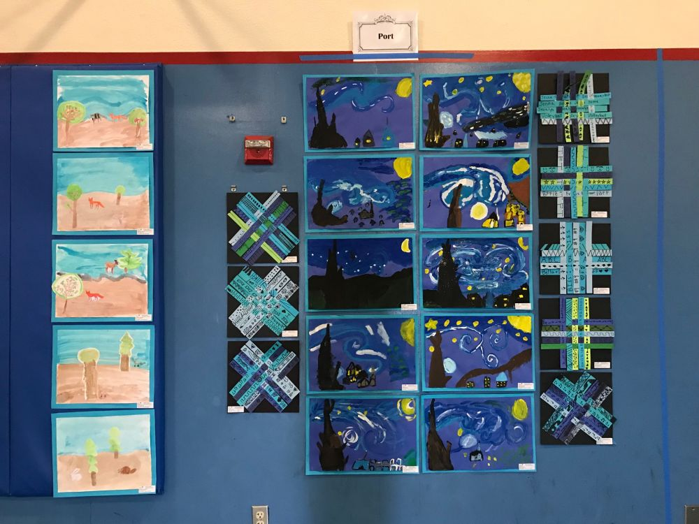 Mrs Port third grade class art in action paintings