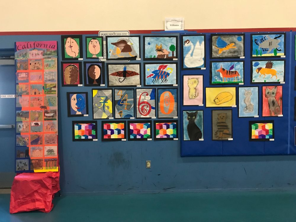 ms williams class art in action paintings