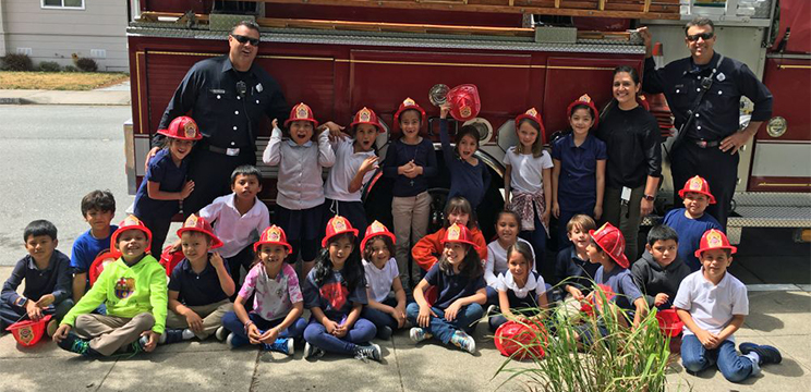 Visit from the firefighters
