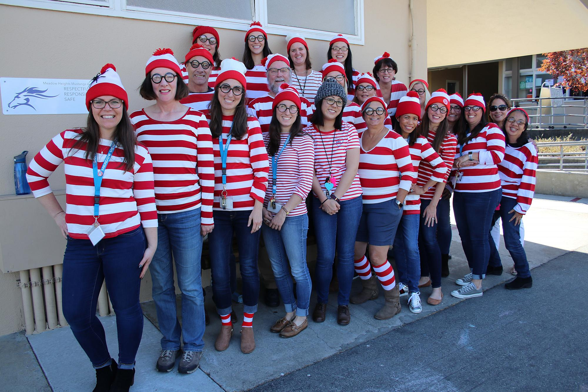 Meadow heights  staff - where is waldo?