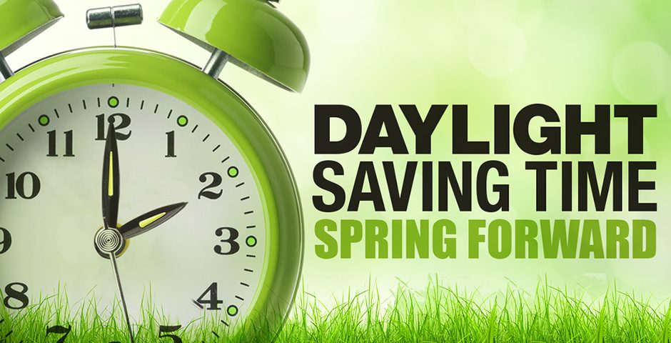 Daylight Savings March 14th!
